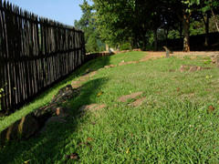 Location of Slave Dwelling and partial reconstruction of 10-ft paling fence.