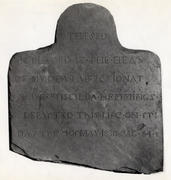 Headstone of Priscilla Hemmings carved by John Hemmings