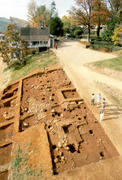 Excavations at <em>Building s</em> (foreground) and <em>Building r</em> (background)