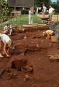 Excavation at <em>Building t</em> site in 1984-1985