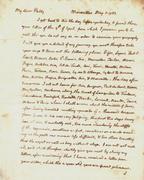 Page 1 of letter date May 5, 1787 from Thomas Jefferson to his daughter Martha (Patsy)