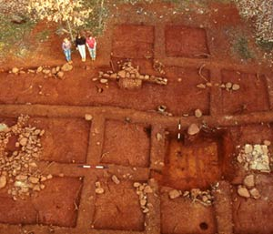 Excavation of the Stewart-Watkins House in the 1980s